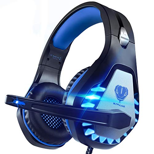 Pacrate Auriculares Gaming para Xbox One PS4 PC Nintendo Switch Mac, Auriculares con...