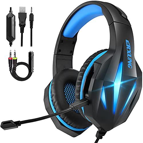 Cascos Gaming PS4 Switch, Auriculares Gaming Xbox One con Micrófono Reducción de...