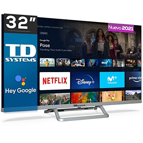 TD Systems K32DLX14GLE Hey Google Model 2021 - Televisores Smart TV 32 Pulgadas HD...